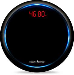 Health Sense Blue-Orbit PS 139 Personal Weighing Scale (Black)