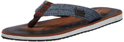 Sparx Men s Brown and White Flip-Flops and House Slippers - 9 UK (SF0037G)