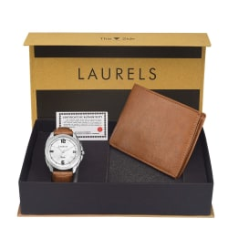 Laurels Men s Combo Pack Of Watch & Wallet (Cp-Dip-301-Asp-06), free size