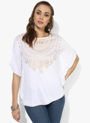 Placement Gold Printed Cape Top