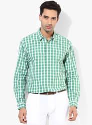 Green Regular Fit Casual Shirt