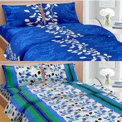 Cortina Premium Set Of 2 Bed Sheet (PRDP-043), multicolor
