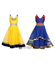 Tiny Toon Multi color Pack of 2 beautiful Dresses For Kids