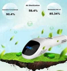 Details about Portable Oxygen Bar Fresh Air Cleaner Ionizer Car Air Purifiers Car Charger
