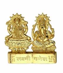 sajawat bazaar Laxmi Ganesh Aluminium Idol