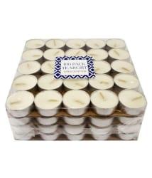 Xeekart White Wax Tea Light - Set of 100