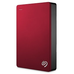 Seagate Backup Plus 4TB Portable External Hard Drive USB 3.0, Red (STDR4000303)
