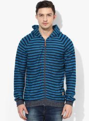Blue Striped Sweat Jacket