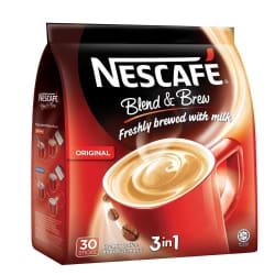 Nescafe 3 In 1 Blend & Brew Original Premix Coffee, 30 Sticks