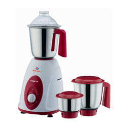 Bajaj 750W Classic Mixer Grinder (White/Red)