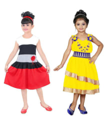 NIKUNJ net muti coler frock for girls