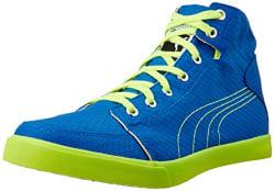 Puma Men s Drongos Idp Puma Royal and Safety Yellow Sneakers - 6 UK/India (39 EU)