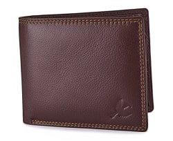 Hornbull Men s Brown Stella Genuine Leather RFID Blocking Wallet