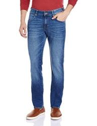 Wrangler Men s Slim Fit Jeans (8907222650520_W15240W2283G_38W x 33L_Mid Wash)