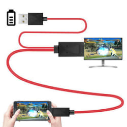 Details about  1.8m Micro USB MHL to HDMI Cable HDTV Adapter for Samsung Galaxy S5/4/3 Note 2/3