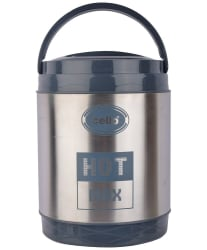 Cello Hot Max 3 Stainless Steel Lunch Box (3 Containers)