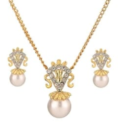 Dg Jewels Pearl Pendant Set-CPS8193