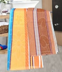 Details about  Bath Towel (Assorted Colors & Design) - Pack Of 2
