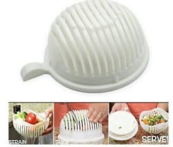 Details about  Salad Cutter Slicer Strainer Bowl vegetable,fruits cutting multipurpose washer