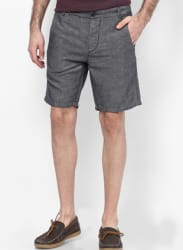 Grey Knitted Shorts