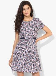 Multicoloured Printed Shift Dress