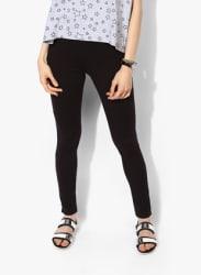 Black Solid Leggings