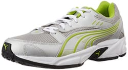 Puma Men s Pluto DP Puma Silver-Lime Punch Running Shoes - 7 UK/India (40.5 EU)