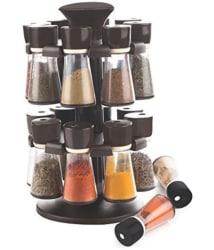 Magikware Black Revolving Spice Rack Container 16 pcs