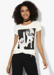 Off White Printed T Shirt