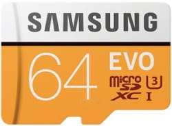 Details about  Samsung EVO 64GB 4K 100MB/s Micro SD With Adapter