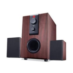 Details about iBall Raaga 2.1 Q9 Full Wood Speakers ((Rosewood))