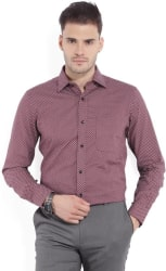 Arrow Men s Printed Formal Brown Shirt