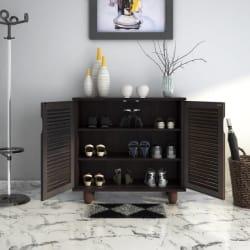 HomeTown Engineered Wood Shoe Rack (Brown, 3 Shelves)