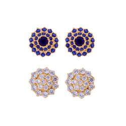 Sri Jagdamba Pearls Combo Of 2Pair Studs