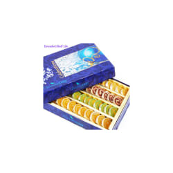 Punjabi Ghasitaram Diwali Gifts Sweets Assorted Moons Box, 400 gms