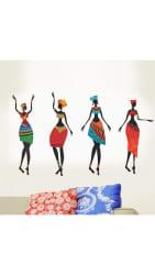 WallTola Colorful African Women Wall Sticker