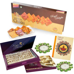 Bikano Diwali Gifts Assorted Chikki And Kaju Katli