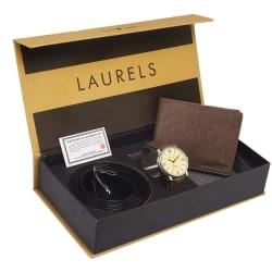 Laurels Men s Combo Pack Of Watch, Wallet & Belt (Cp-Asp-101-Crs-09-Vt-0209), free size