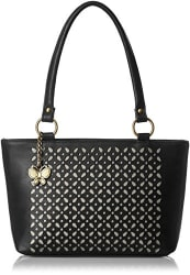 Butterflies Women s Shoulder Bag (Laser Black) (BNS 0539LBK)