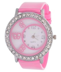 New Latest Pink Color Analog Watch For Girls