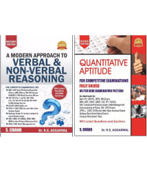A Modern Approach To Verbal & Non Verbal Reasoning & Quantitative Aptitude Combo Pack
