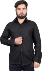 agarwal enterprises Men & Women Solid Formal Black Shirt