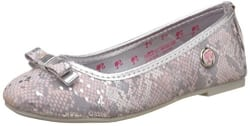Barbie Girl s Silver Espadrille Flats - 1 UK/India (33 EU)