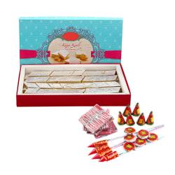 Ferns N Petals Diwali Express Gifts - Kaju Katli & Crackers