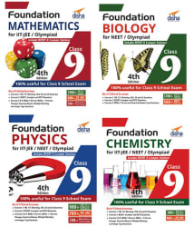 Foundation PCMB (Science + Maths) for IIT-JEE/ NEET/ Olympiad Class 9 - set of 4 books - 4th Edition