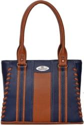 FD Fashion Shoulder Bag  (Blue, Tan)