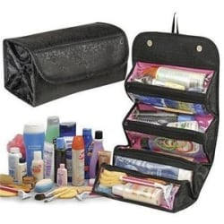 Details about Roll N Go 4 in 1 Travel Buddy Cosmetic Toiletry Shaving Jewelry Bag Organizer