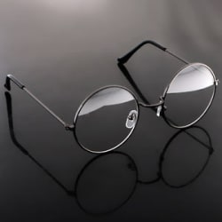 Details about  Vintage Metal Glasses Classic Round Spectacles Len Optical Eyeglasses Frame