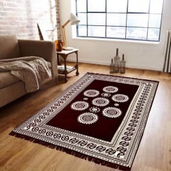 Supreme Home Collective Brown Velvet Carpet (147 cm X 208 cm)