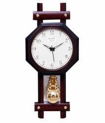 Ravishing Plaza Pendulum Hexa Wall Clock